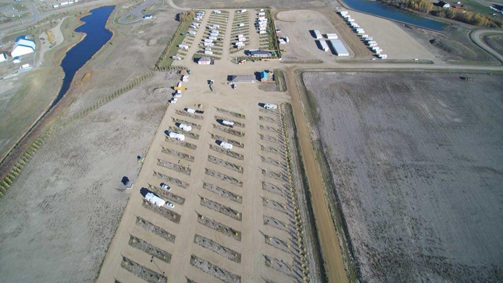 Birds Eye View of Rendez Vous RV Park & Storage