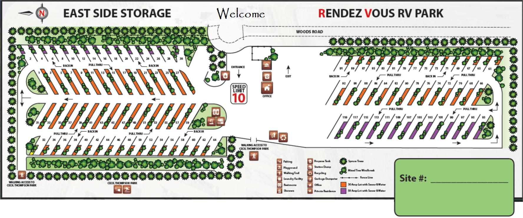 Rendez-Vous RV Park Map