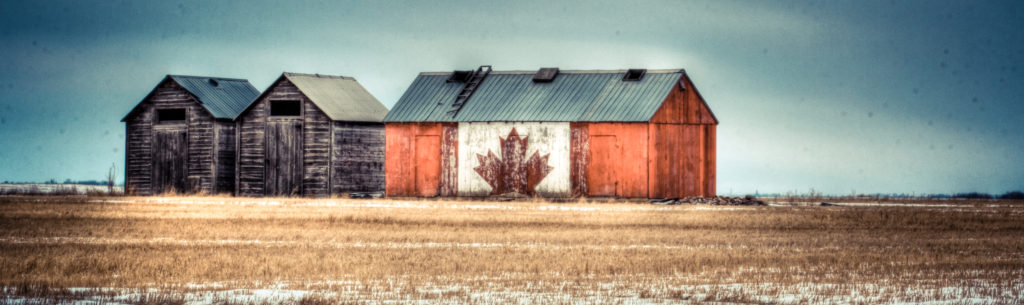 canadian flag-grain-shed
