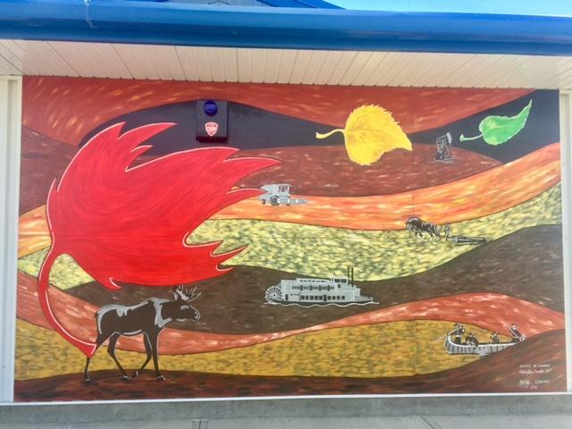 Mural at Cecil Thompson Park